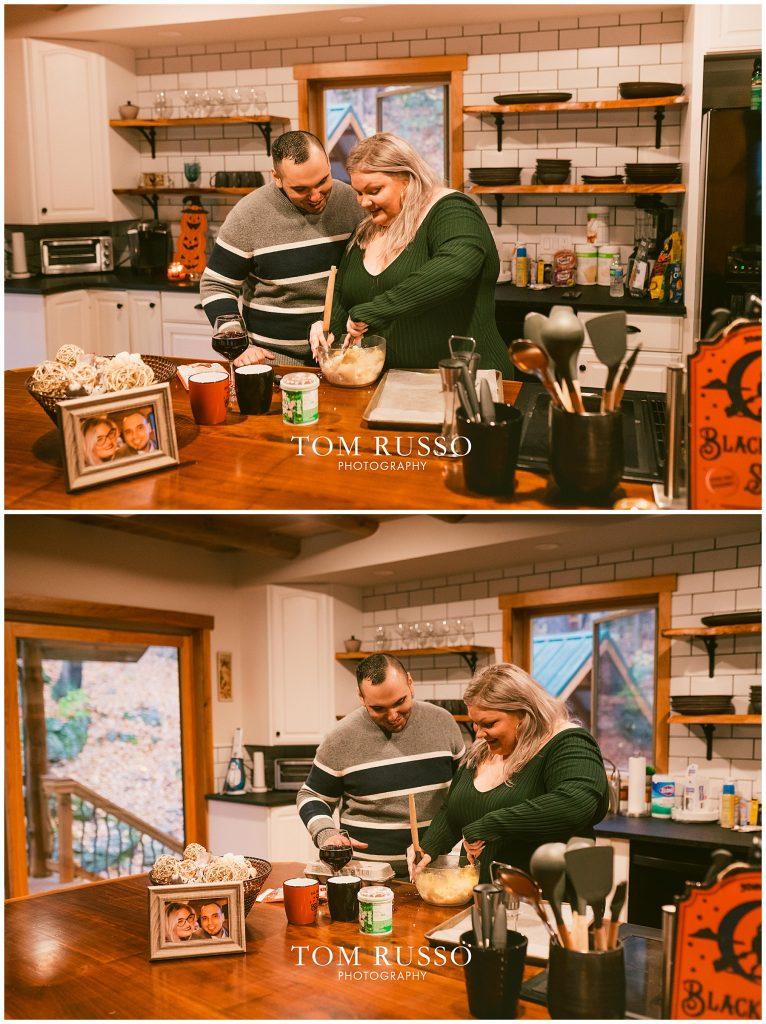 Caroline & Angel At Home Cabin Engagement Session 44