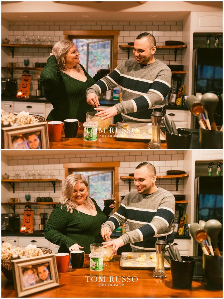 Caroline & Angel At Home Cabin Engagement Session 46