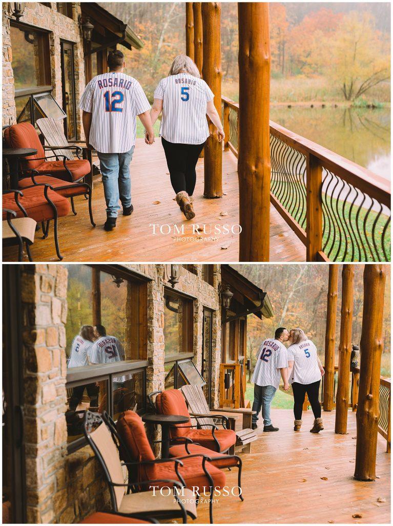 Caroline & Angel At Home Cabin Engagement Session 47