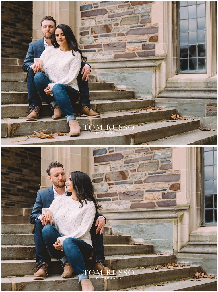 Zia & Zach Engagement Session Princeton University 76