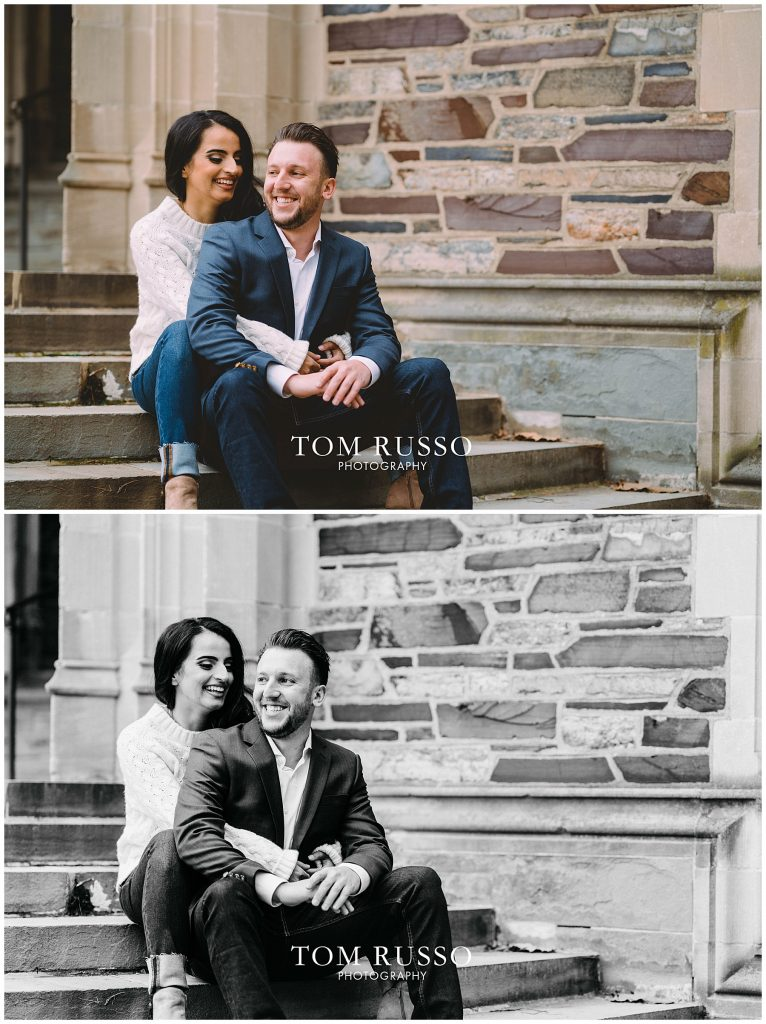 Zia & Zach Engagement Session Princeton University 79