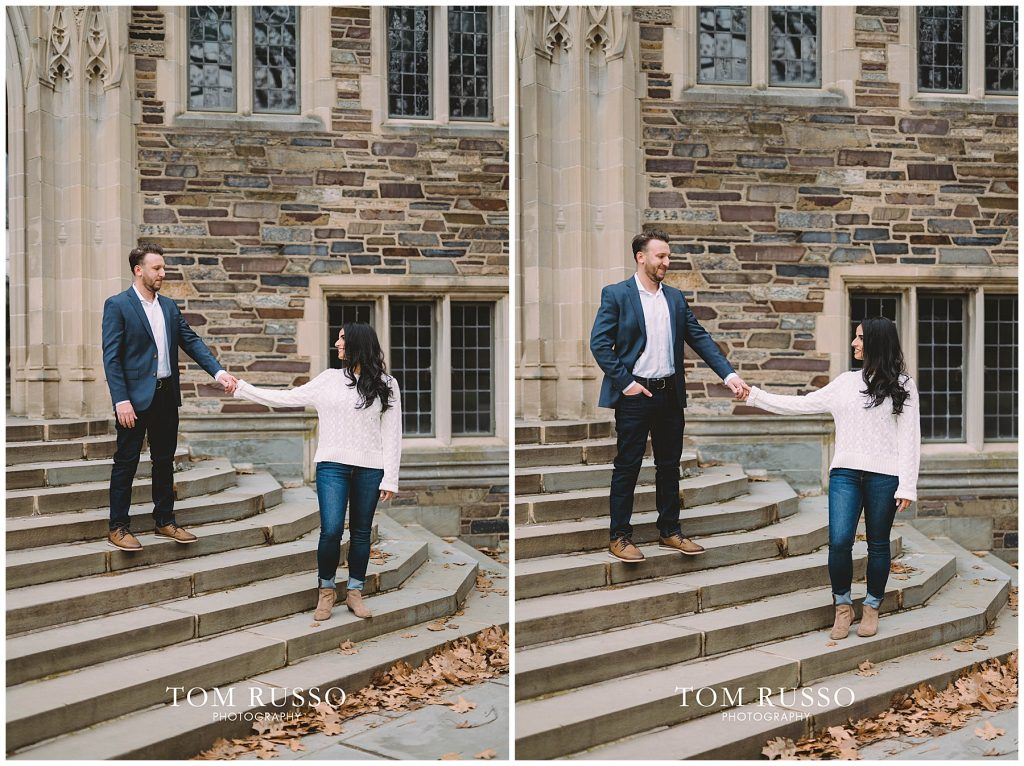 Zia & Zach Engagement Session Princeton University 81