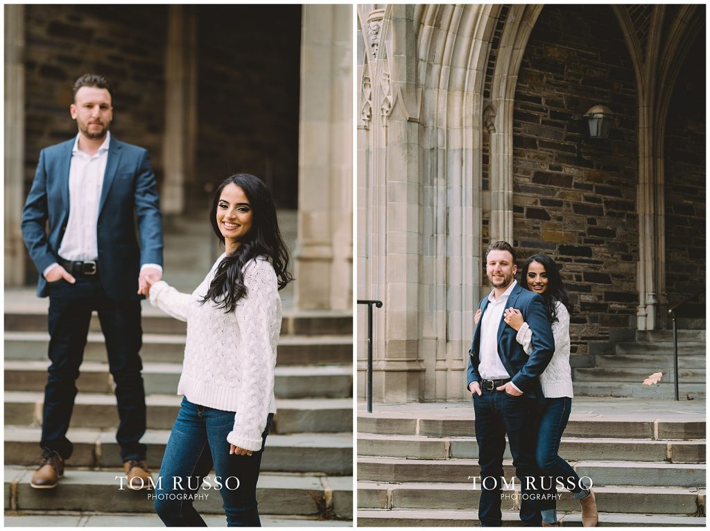 Zia & Zach Engagement Session Princeton University 83