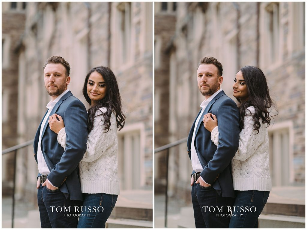 Zia & Zach Engagement Session Princeton University 85