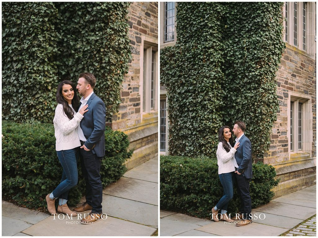 Zia & Zach Engagement Session Princeton University 87