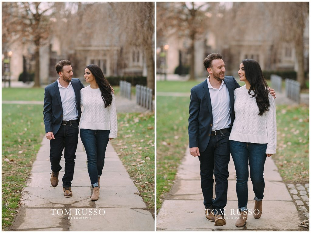 Zia & Zach Engagement Session Princeton University 90