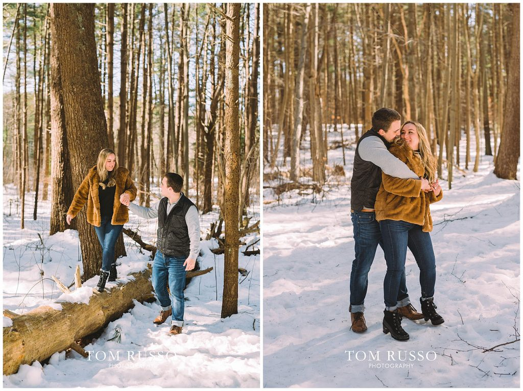 Julia & Kevin Engagement Session Possner Pines Middle Island NY 33