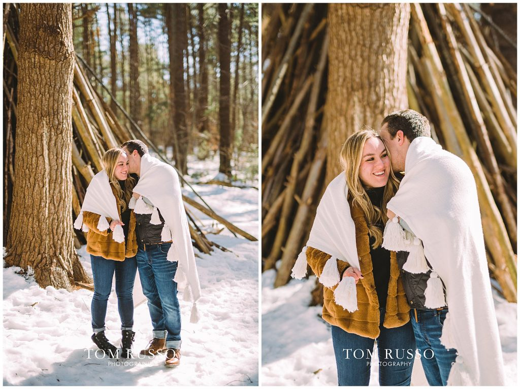 Julia & Kevin Engagement Session Possner Pines Middle Island NY 37
