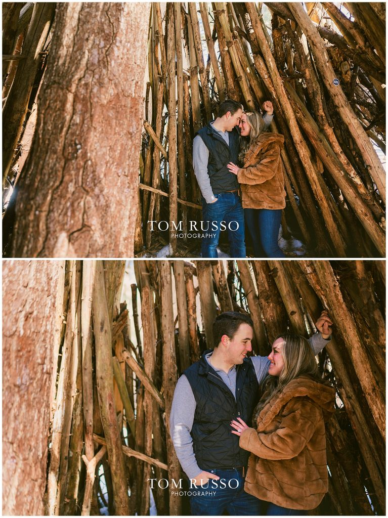 Julia & Kevin Engagement Session Possner Pines Middle Island NY 39