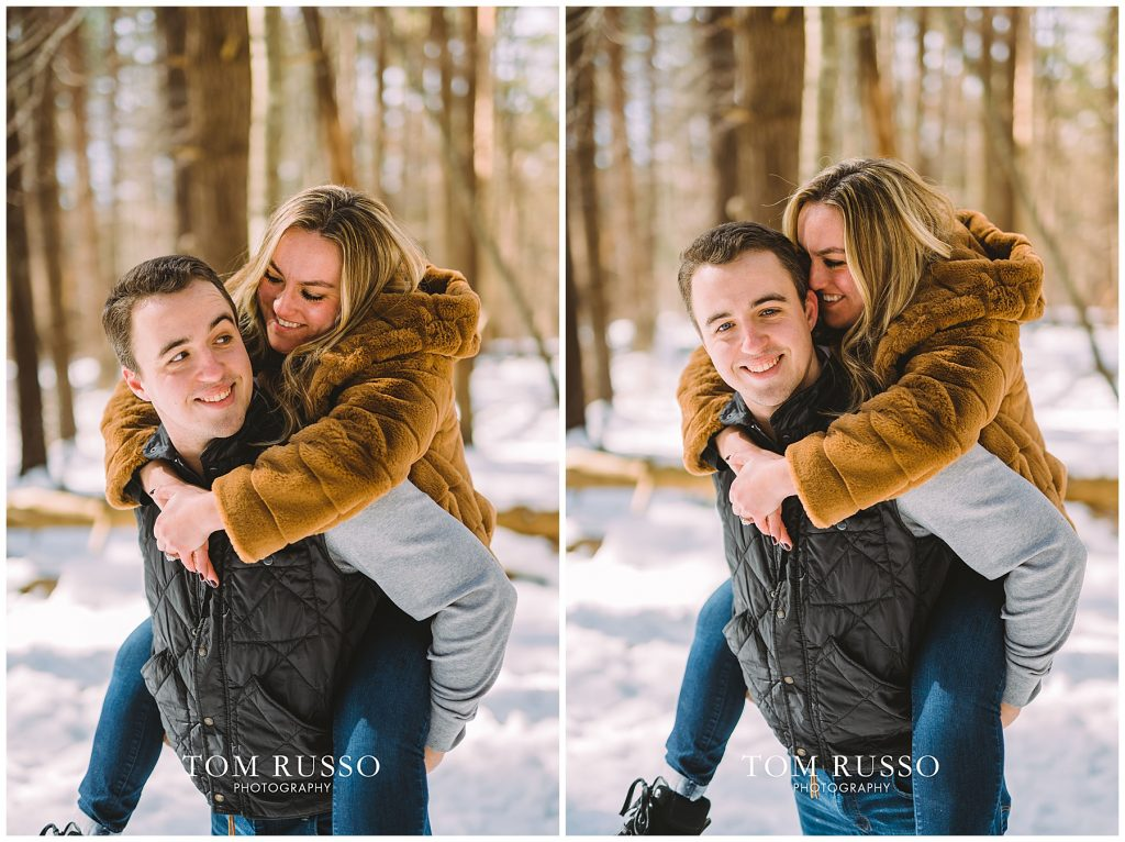 Julia & Kevin Engagement Session Possner Pines Middle Island NY 40