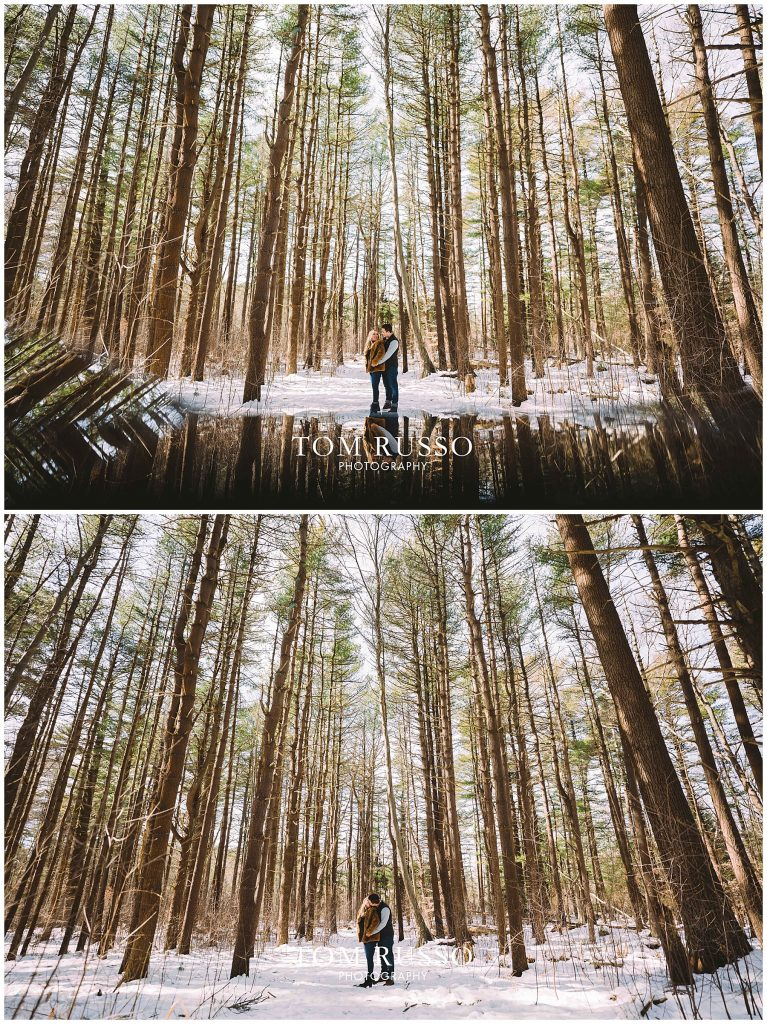Julia & Kevin Engagement Session Possner Pines Middle Island NY 41