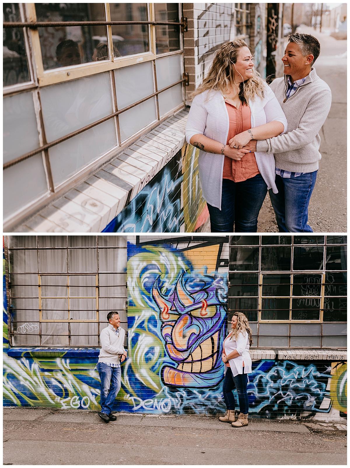 Hannah & Shanna Engagement Session RiNo District Denver CO 39
