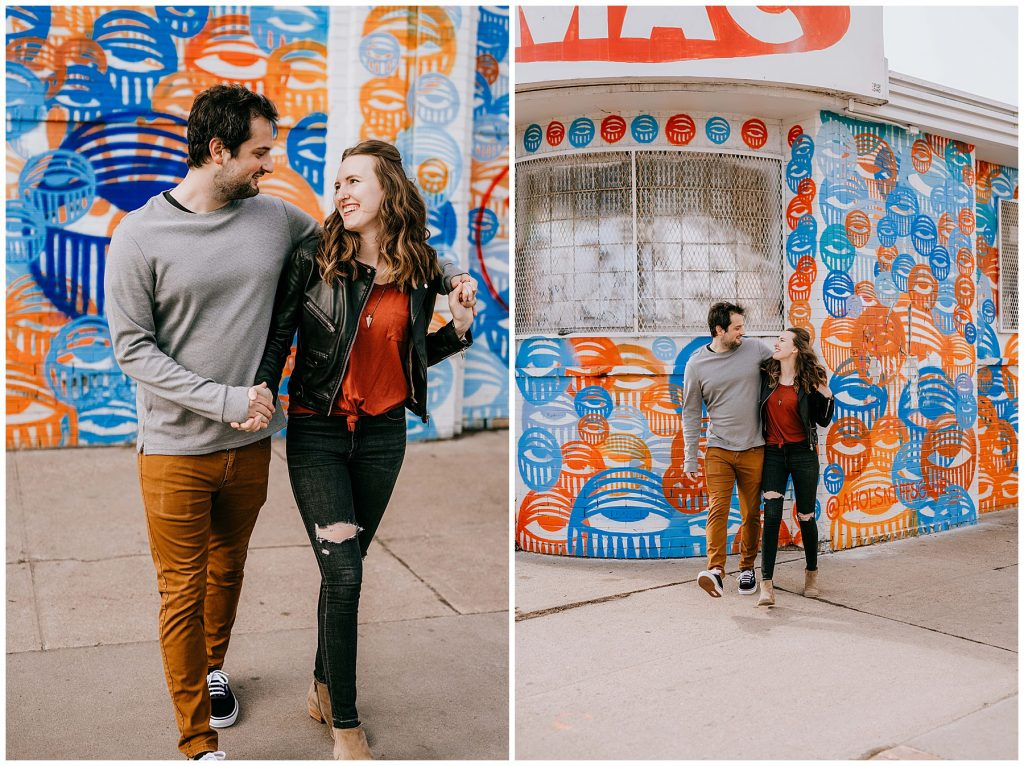 Jozie & Sam Engagement Session RiNo District Denver CO 39