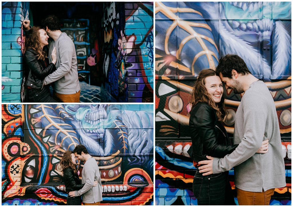 Jozie & Sam Engagement Session RiNo District Denver CO 43