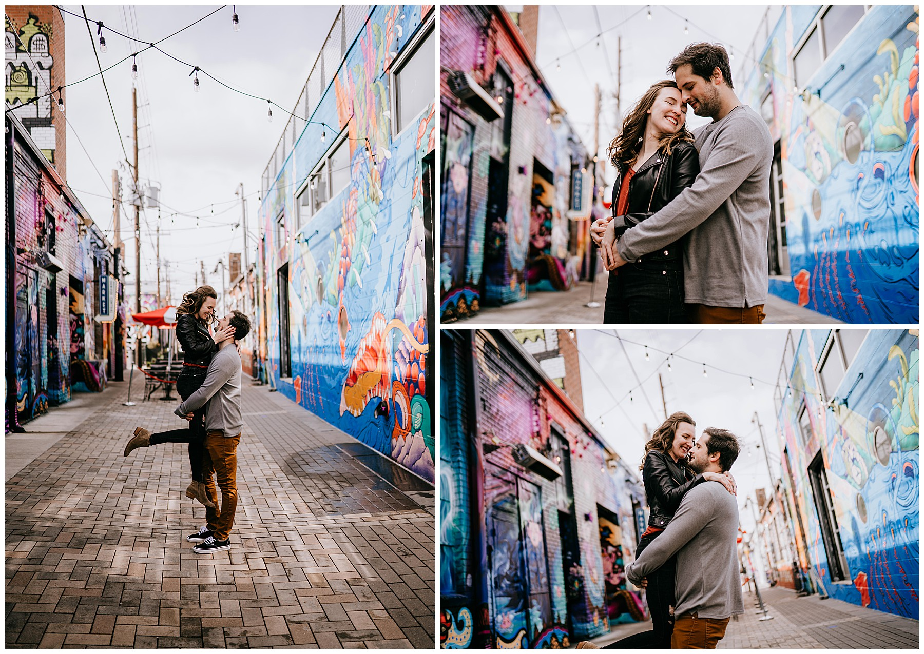 Jozie & Sam Engagement Session RiNo District Denver CO 45