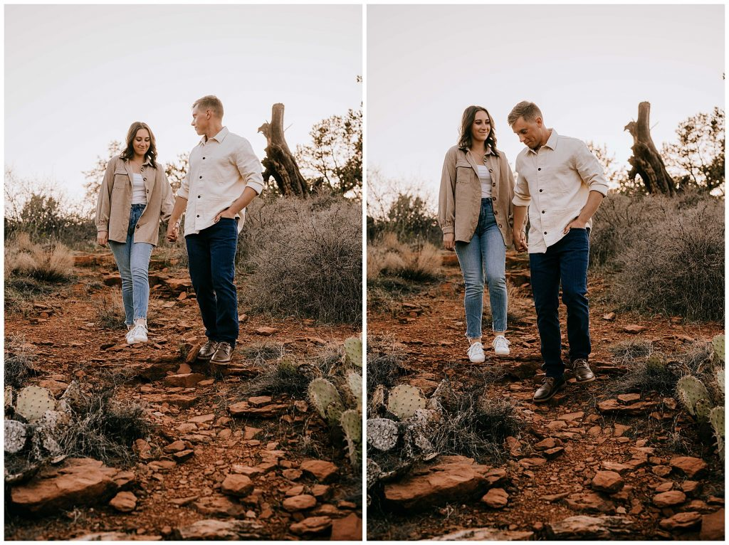Olivia & Jonathan Engagement Session Bell Rock Sedona AZ 57